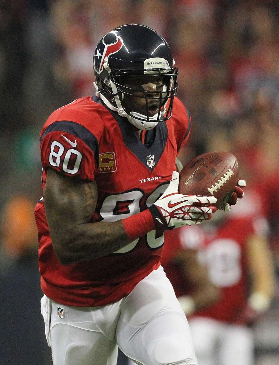 Houston Texans wide receiver Andre Johnson (80) catches