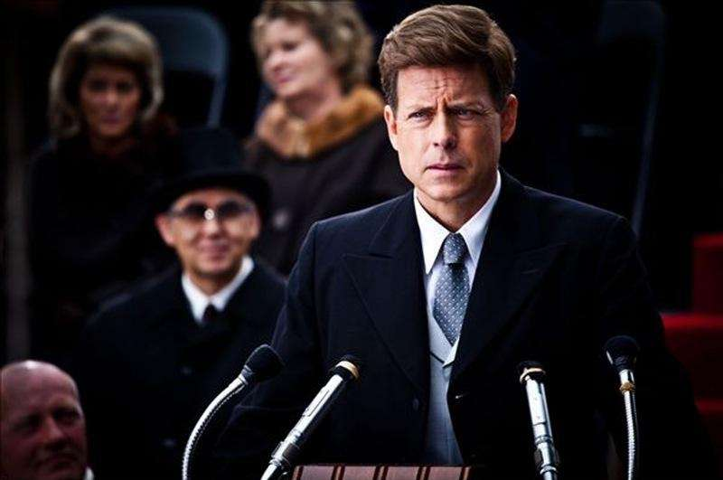 Greg Kinnear portrays John F. Kennedy in a