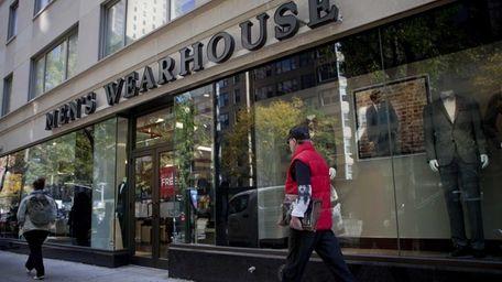Men's Wearhouse said Monday, Nov. 4, 2013, that