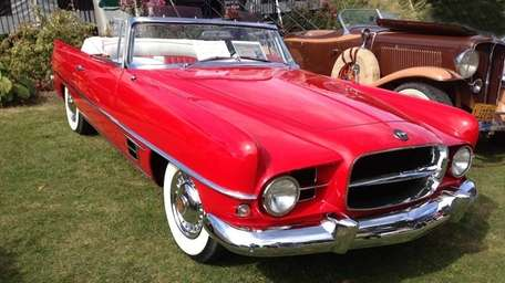 The 1957 Dual-Ghia convertible owned by Stephen Siben.