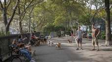 DeWitt Clinton Park in Hell's Kitchen features a