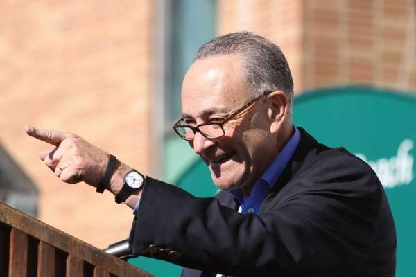 Senator Chuck Schumer speaks at Long Beach City