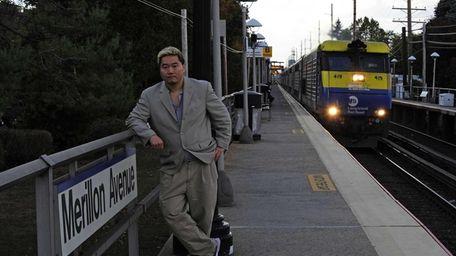 Charlie Minn at the Merillon Avenue LIRR station