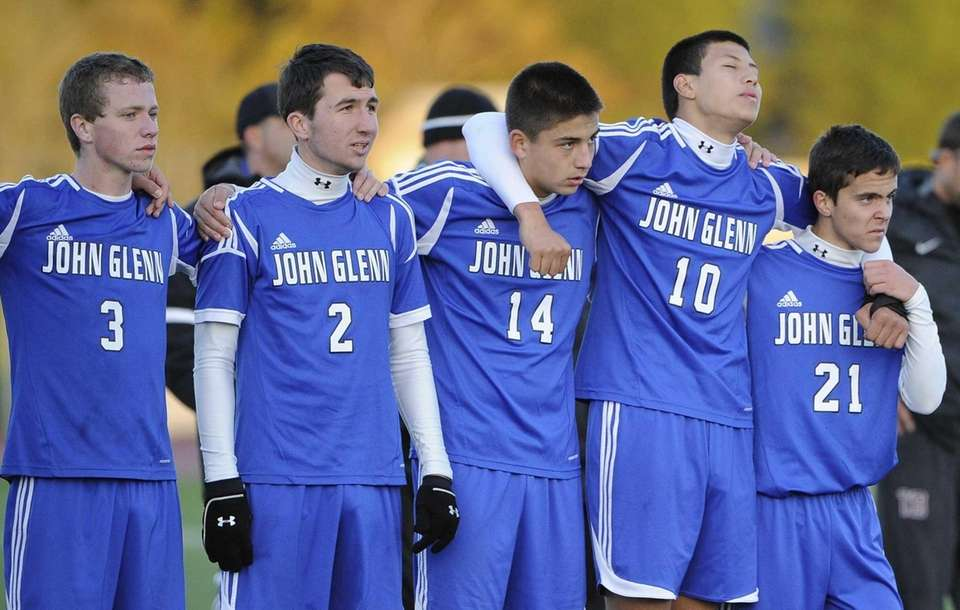 From left, John Glenn's Corey Ainsworth, James Groark,