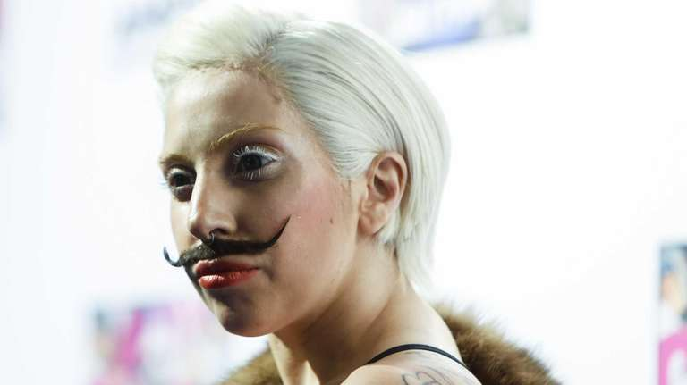Lady Gaga during a presentation of her upcoming