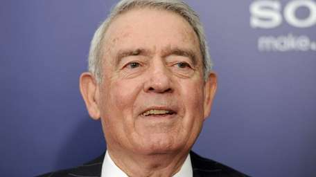 Journalist Dan Rather at the premiere of