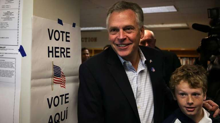 Democratic gubernatorial candidate for Virginia Terry McAuliffe and