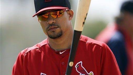 St. Louis Cardinals shortstop Rafael Furcal waits to