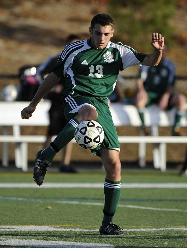 Carle Place's Nick Hytell controls the ball against