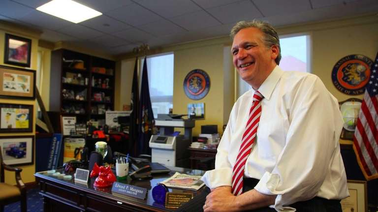 Nassau County Executive Edward Mangano is back in
