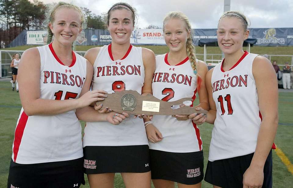 From left, Pierson/Bridgehampton captains Kirra McGowan, Katherine Matthers,