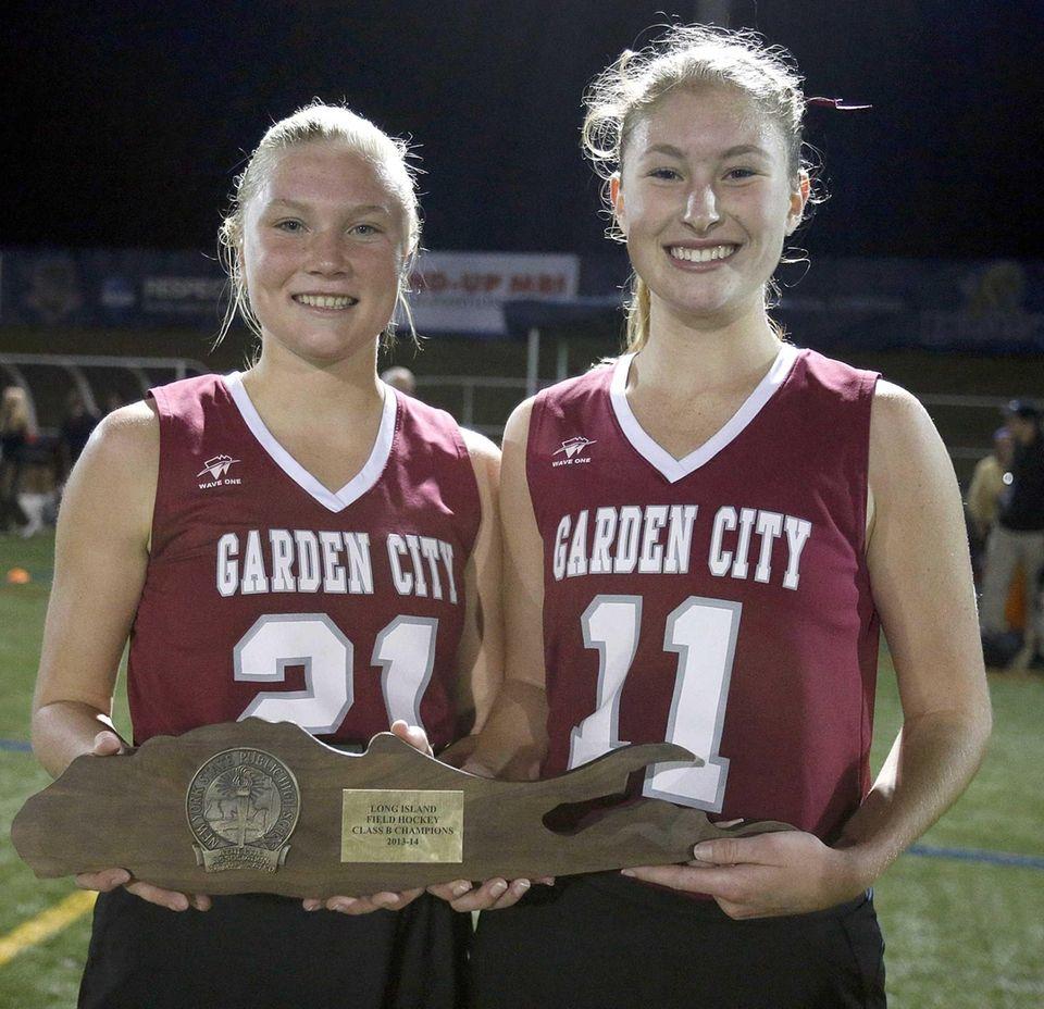 Garden City captains Tara DeAngelo and Kelly Tierney