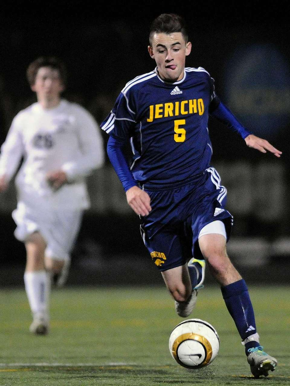 Jericho's Andrew Greenblatt races after a loose ball