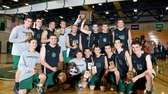 The Bellmore JFK Cougars pose for a photo