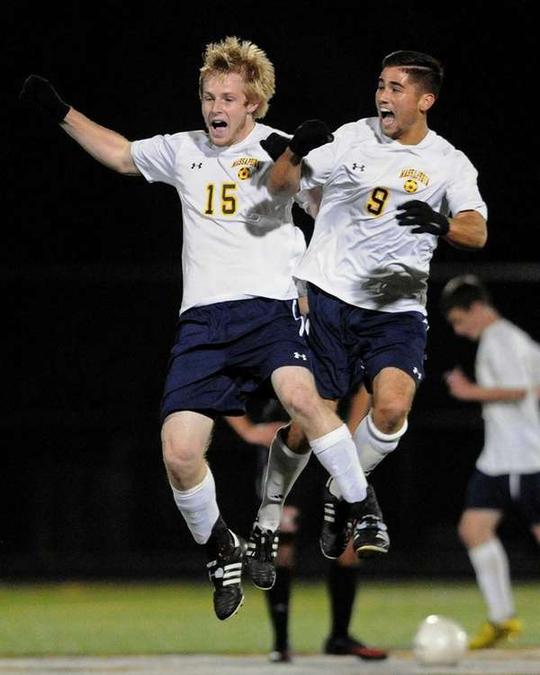 Massapequa teammates Chris McGrath, left, and Brett Reilly