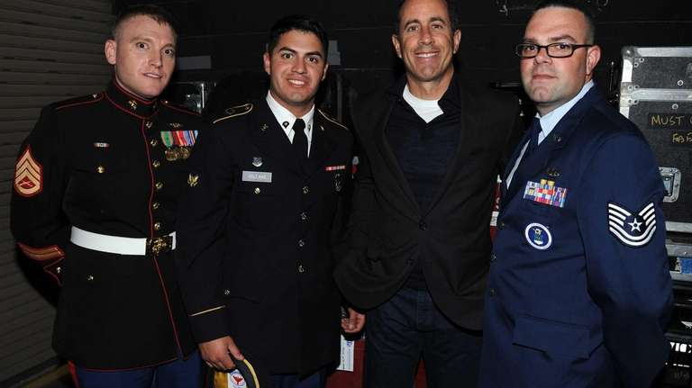 Jerry Seinfeld backstage at The New York Comedy