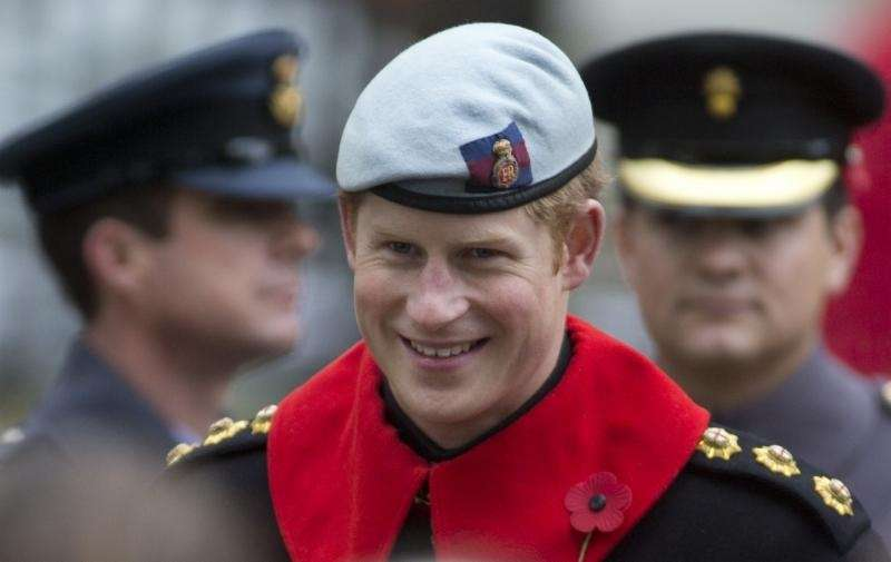 Prince Harry chats with British armed service veterans