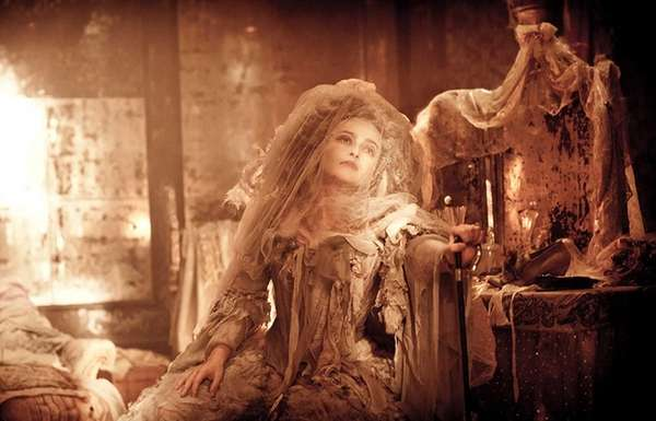 Helena Bonham Carter plays as Miss Havisham in