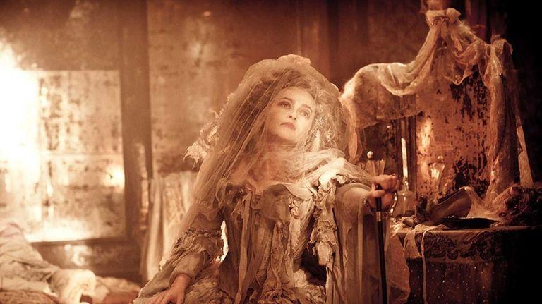 Helena Bonham Carter plays as Miss Havisham in