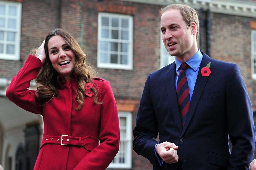 Catherine, the duchess of Cambridge, and Britain's Prince