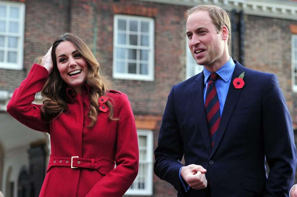 Prince William and Kate before meeting with Royal