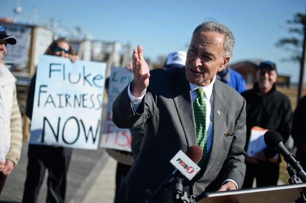 Senator Charles E. Schumer speaks during a news