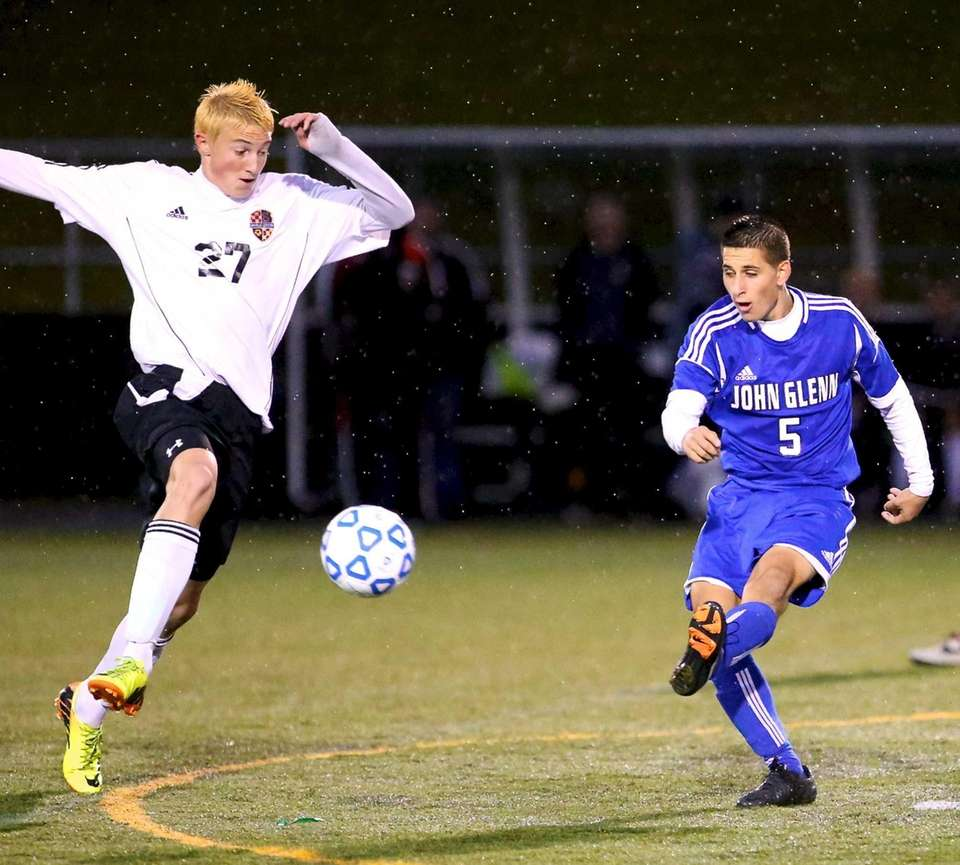 John Glenn's Vincent Piccoli puts the pass past