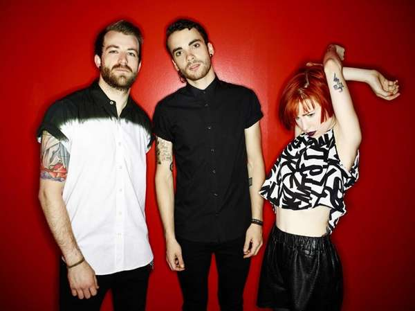 Paramore band members, from left: Jeremy Davis, Taylor
