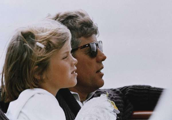 President John F. Kennedy and his daughter, Caroline,