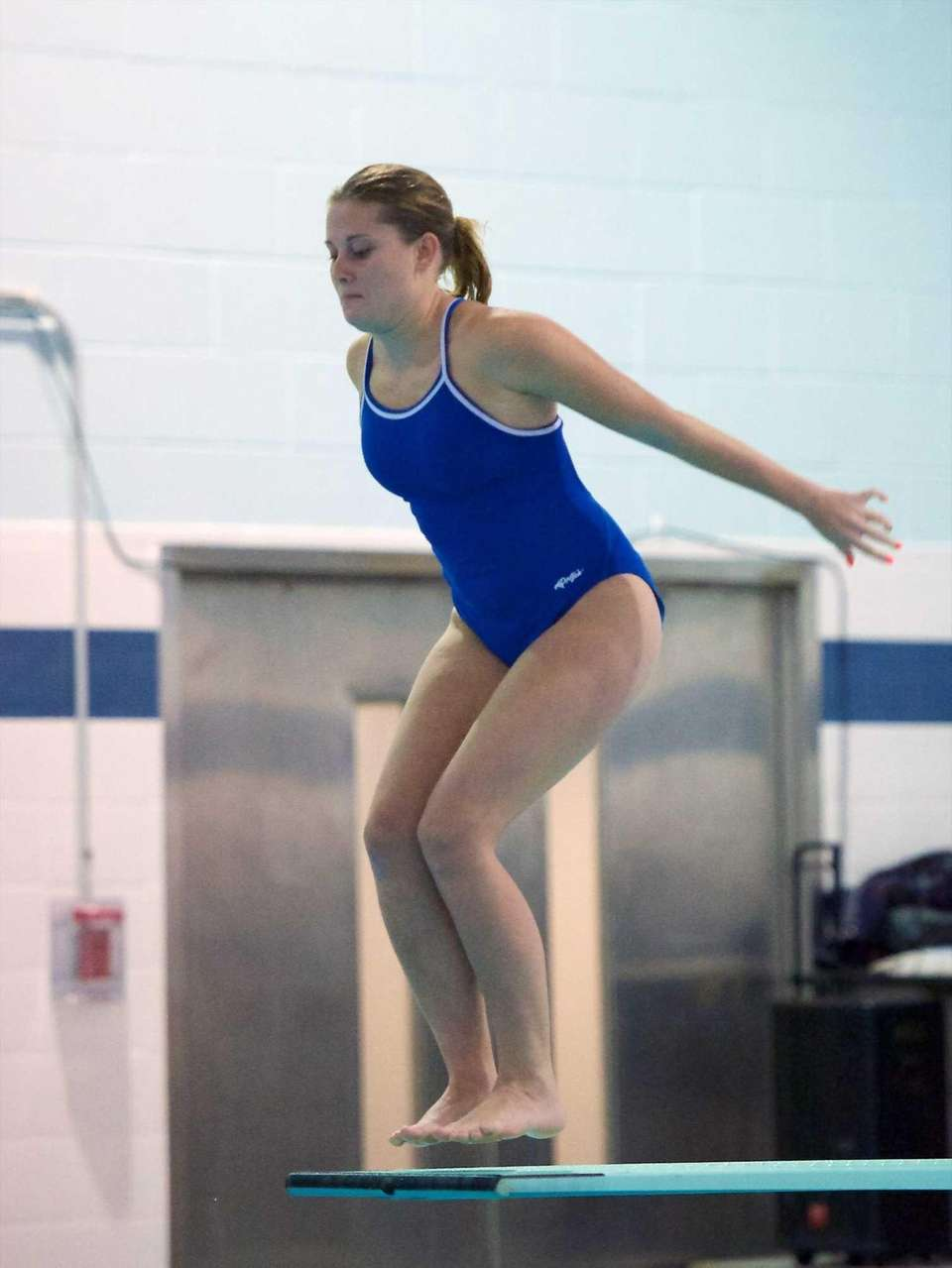 Ashley Carter from West Islip competes in the