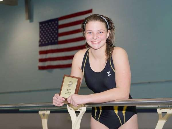 Suffolk County diving champion Rachel Heymach poses for