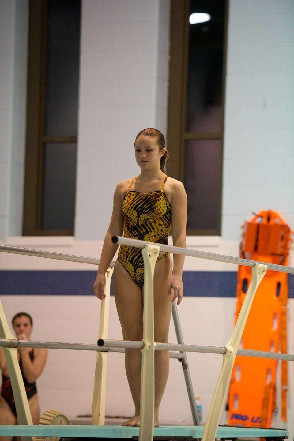 Grace Reeves from Lindenhurst competes in the Suffolk