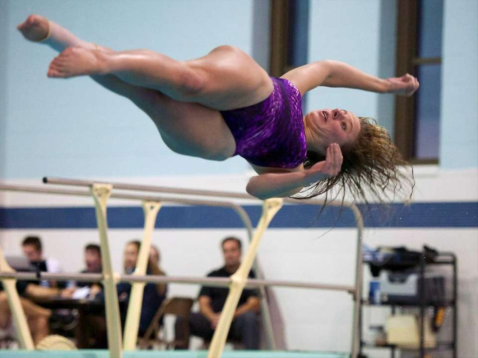 Melissa Neville from Sayville competes in the Suffolk