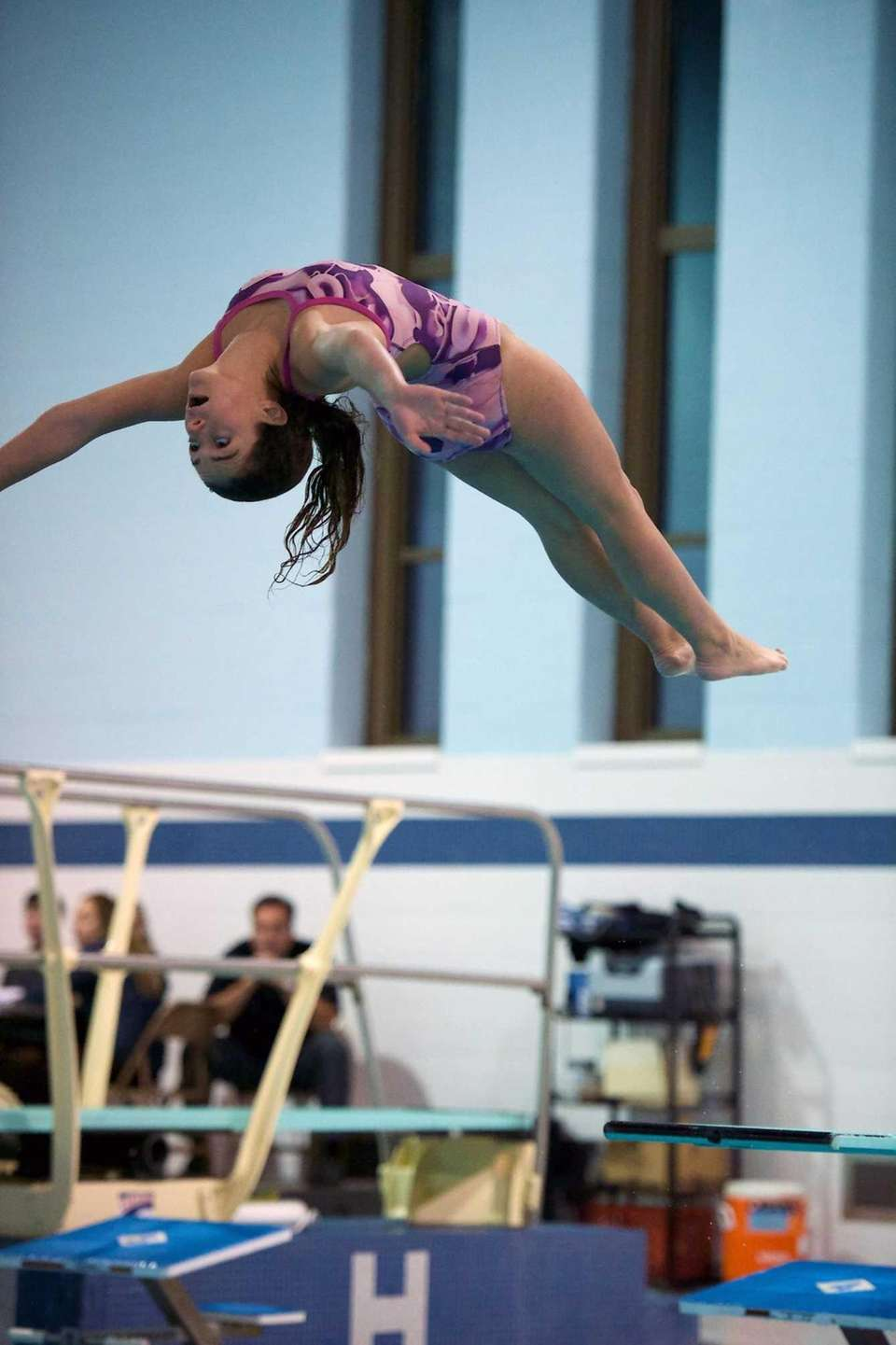 Giana Cornelia from Lindenhurst competes in the Suffolk