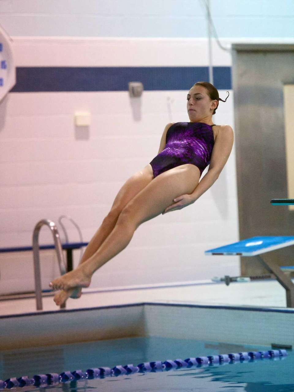 Lia Magliola from Sayville competes in the Suffolk
