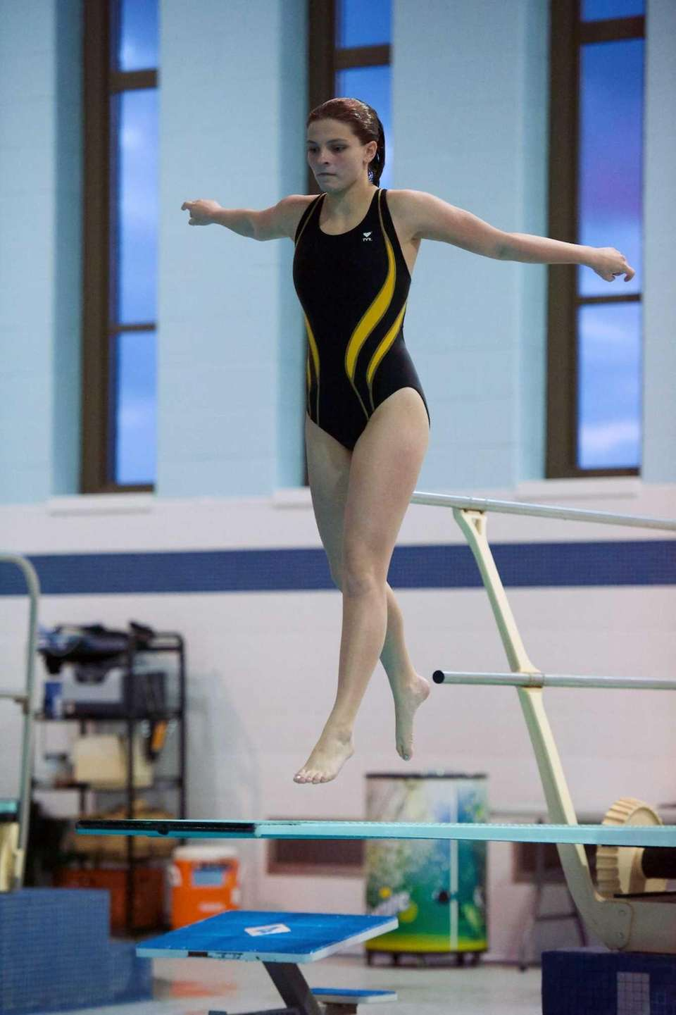 Rachel Heymach from Sachem North competes in the