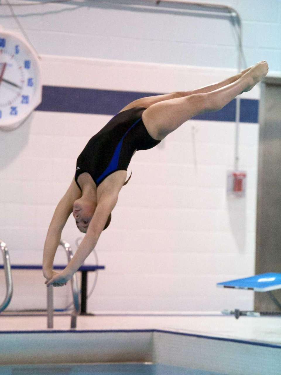 Patricia Arceri from Huntington competes in the Suffolk