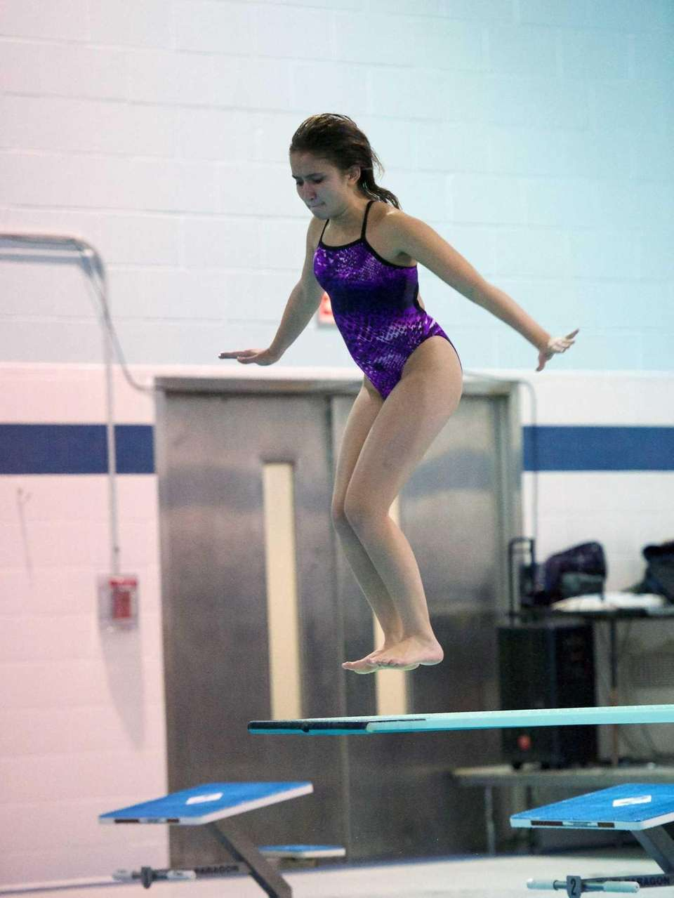 Calista Tomasetti from Sayville competes in the Suffolk