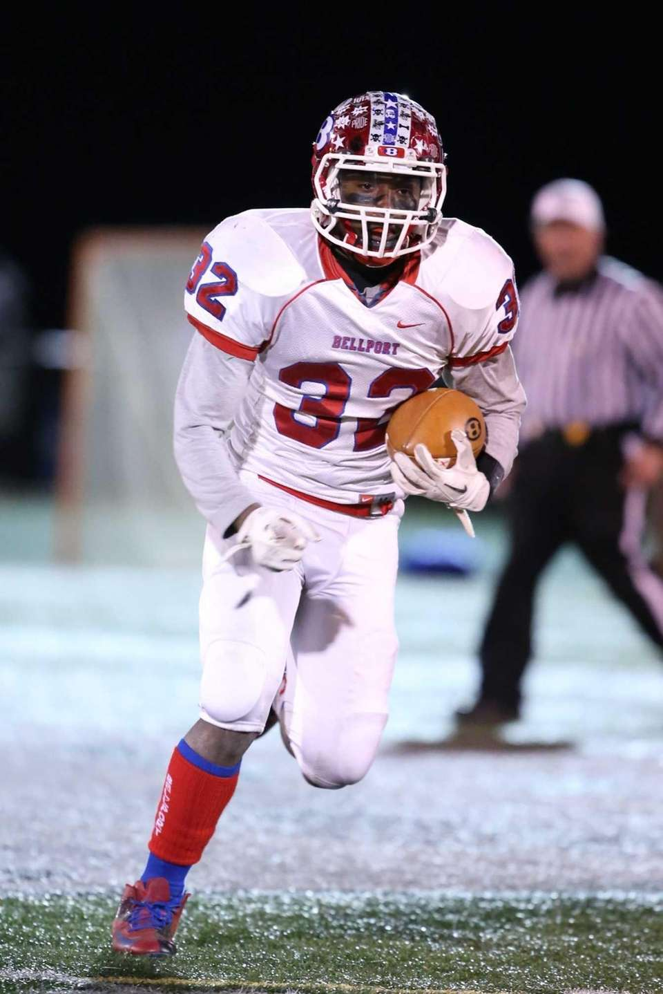 Bellport running back Joe Leon breaks a long