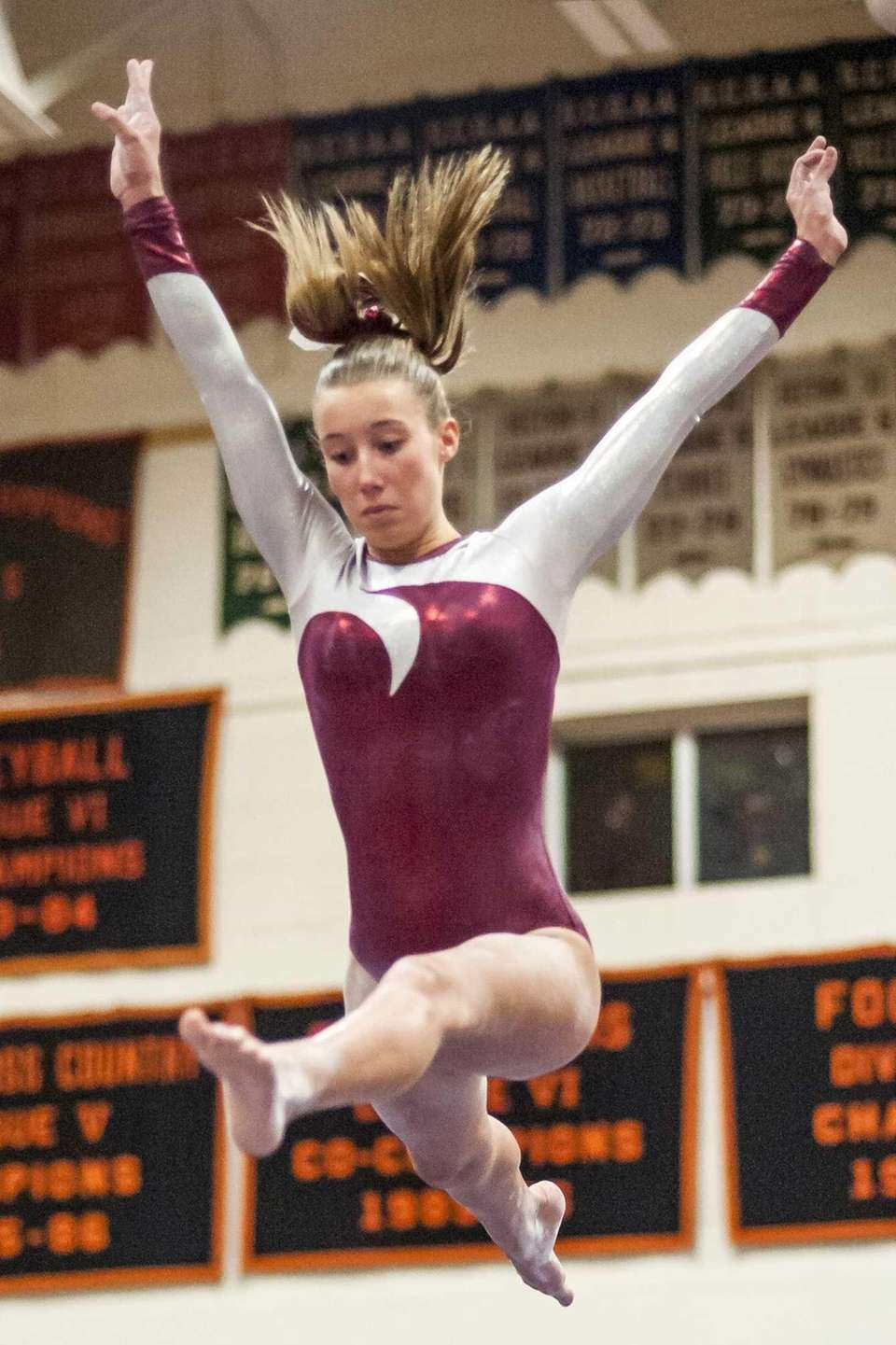 BABYLON-NOVEMBER 08, 2013. Bay Shore's Sarah Trupp competing