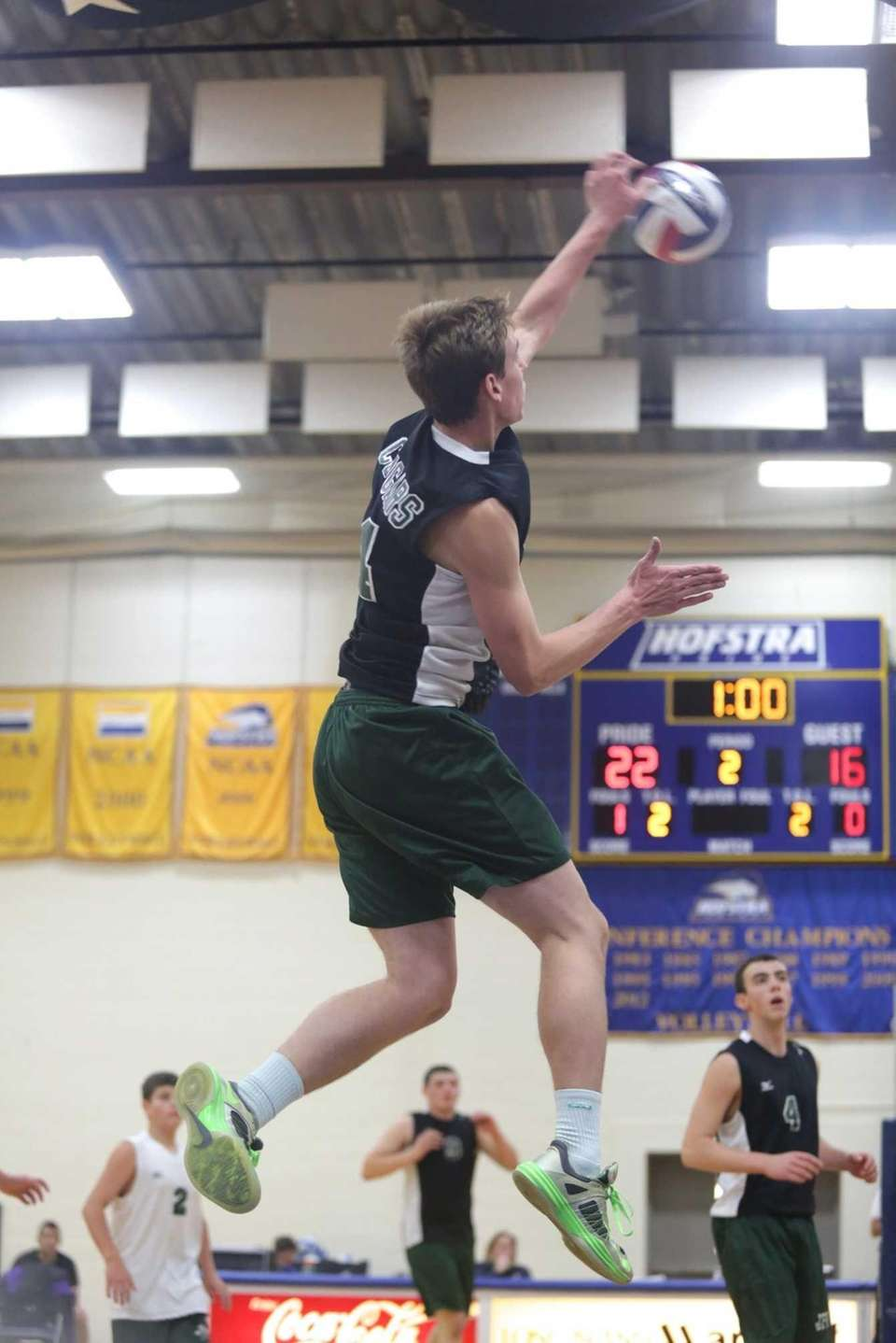 Bellmore JFK's Gary Anderson scores a point against
