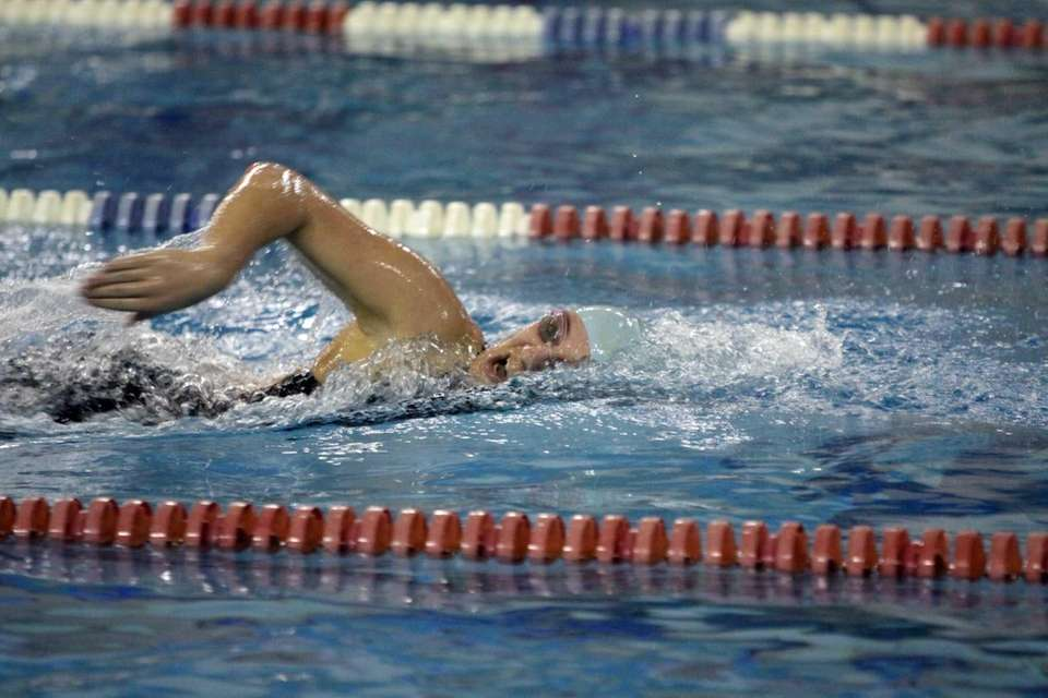 Babylon's Julianne Koch competes in the 200-yard freestyle