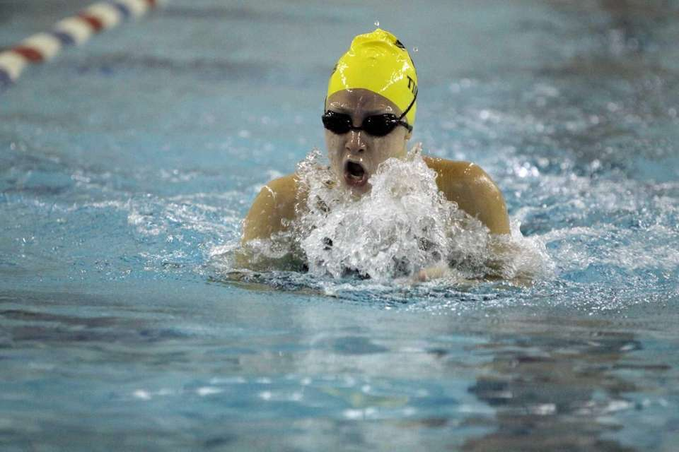 Northport's Nicole Papsco swims breaststroke in the 200-yard