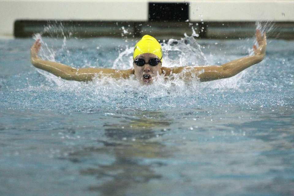 Northport's Nicole Papsco swims butterfly in the 200-yard