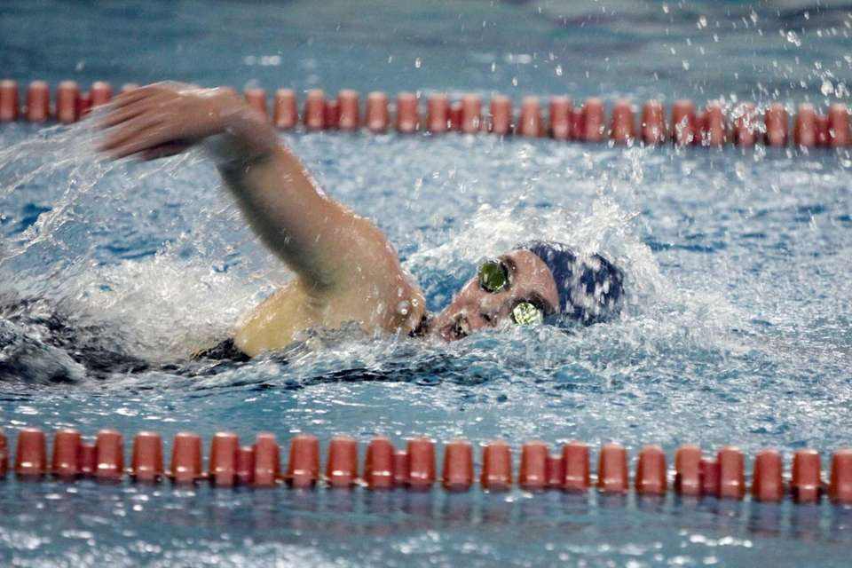 Smithtown's Deirdre Connor competes in the 500-yard freestyle