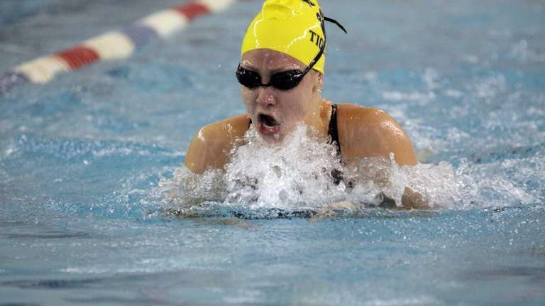 Northport's Nicole Papsco competes in the 100-yard breaststroke