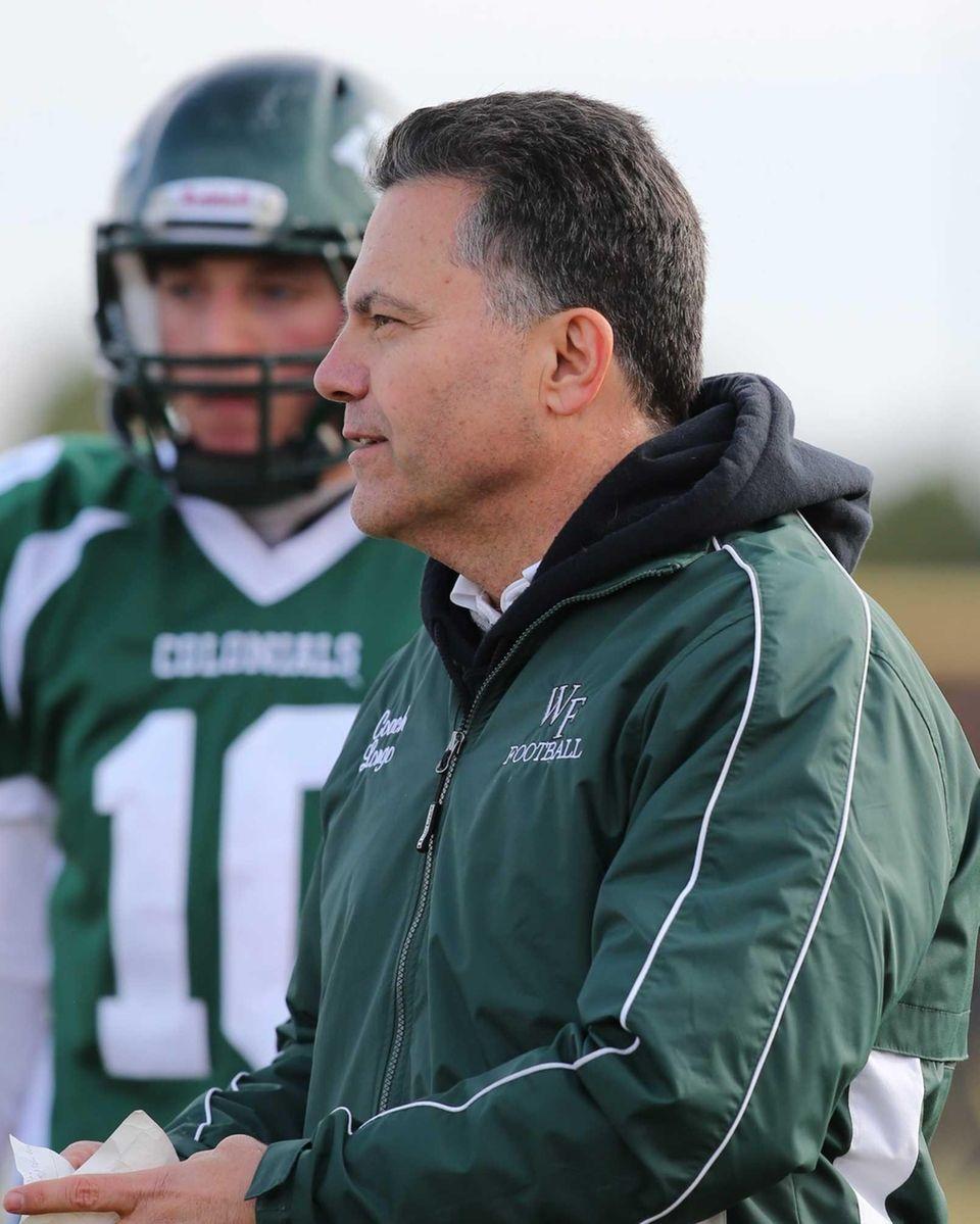 William Floyd head coach Don Longo is seen