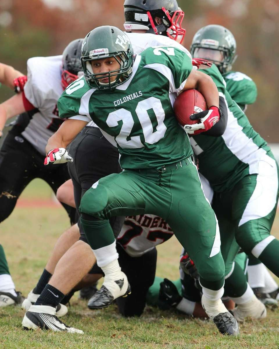 William Floyd running back Chris Faison (no. 20)
