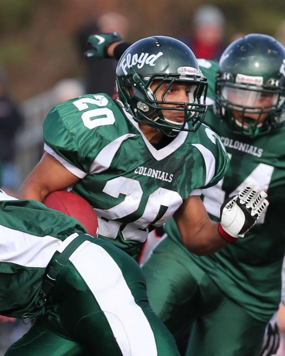 William Floyd running back Chris Faison scores a