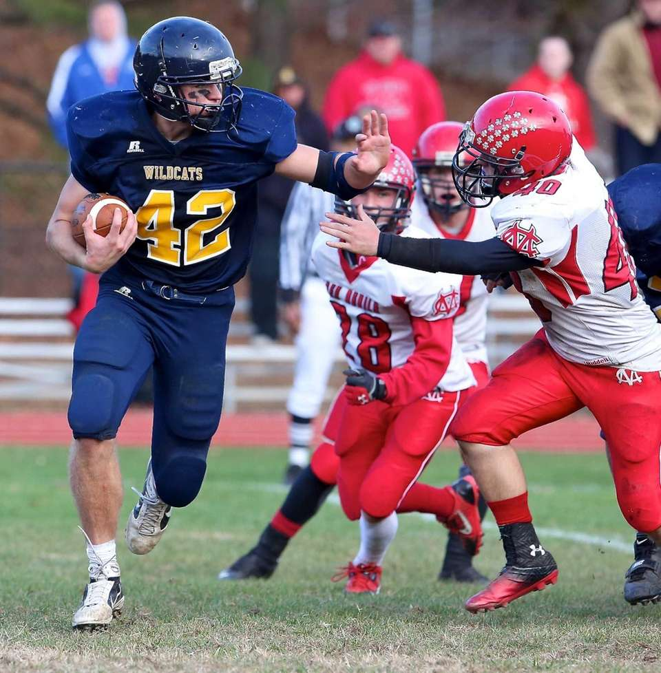 SWR running back Tyler Anderson (no. 42) rushes